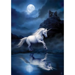 Anne Stokes Moonlight Unicorn Card 6 Pack